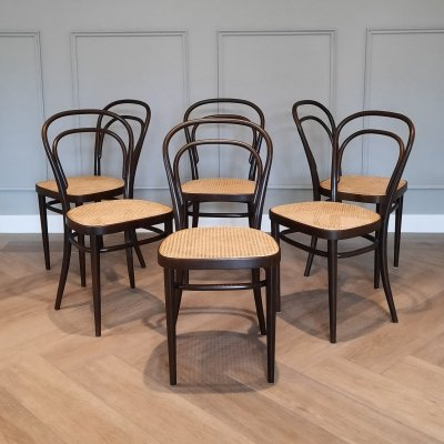Set of 6 No. 214 Chairs by Michael Thonet for Thonet, 1977