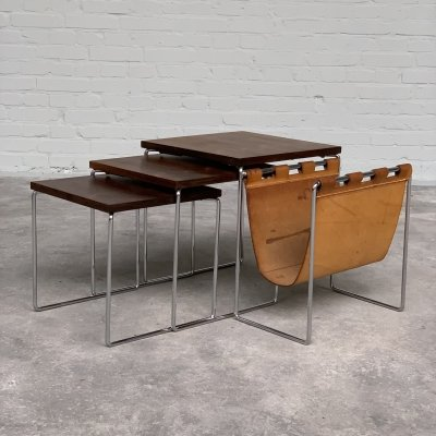 Rosewood nesting tables by Brabantia, Netherlands 1960s