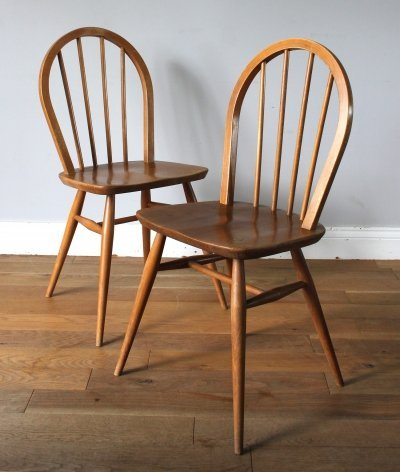 Pair of vintage Ercol windsor dining chairs