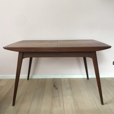 Extendable dining table by Louis van Teeffelen for Webe, 1960's