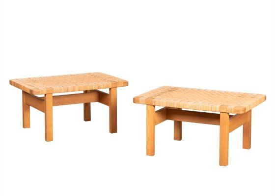 Pair of Model 5273 benches by Børge Mogensen for Fredericia Stolefabrik, 1960s