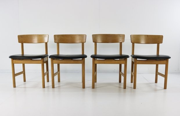 Set of 4 Børge Mogensen 'The People's Chair' dining chairs