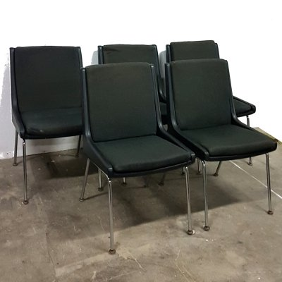 Set of 5 conference chairs by Martin Stoll for Giroflex, Germany 1967