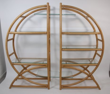 Bamboo Room divider or plant rack, 1960s