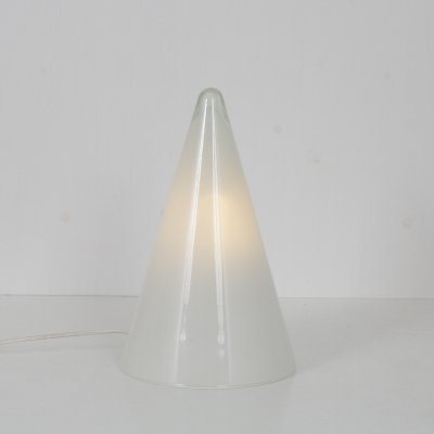 1990s 'Teepee' glass table lamp for SCE, France