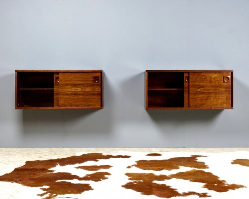 Set of two Danish cabinets / storage units in rosewood, 1960s