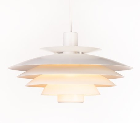 Vintage white Danish 'model 52610' Form Light pendant lamp, 1980s