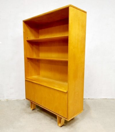 Vintage birch series model BB03 cabinet by Cees Braakman for Pastoe, 1950s