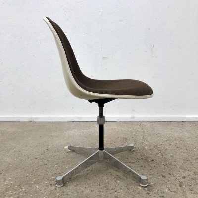 Eames PSCC side chair on swivel contract base by Herman Miller, 1960s