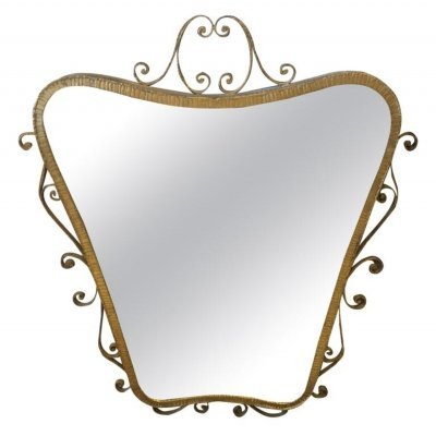 Pier Luigi Colli Mid-Century Modern Shaped Wall Mirror, circa 1950