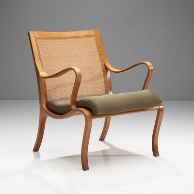 Nils Rooth 'Vienna' Beech Chair for Swedese Möbler AP, Sweden 1975