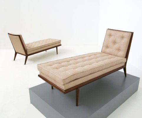 Pair of Chaise longue by T. H. Robsjohn-Gibbings for Widdicomb, 1950