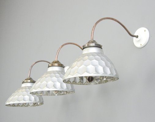 Wall Mounted Mercury Glass Lights by Helioray, Circa 1930s