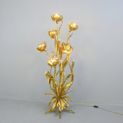 Gold Leaf Hollywood Regency Lamp by Hans Kögl