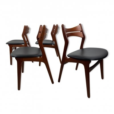 Set of 4 'Model 130' Erik Buch Chairs in teak, 1960s