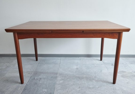 Danish Teak Dining Table with Dutch Extensions, 1960's