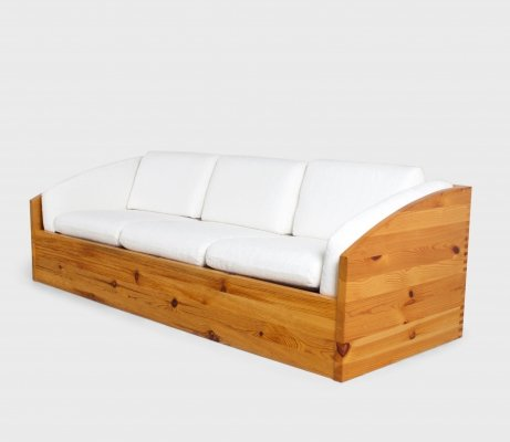 Large Sofa by Ate Van Apeldoorn in Solid Pine, Netherland 1970s