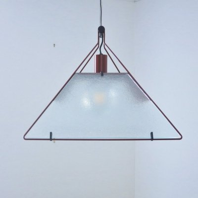 Trapezio hanging lamp by Alberto Salvati & Ambrogio Tresoldi for Luci, 1980s