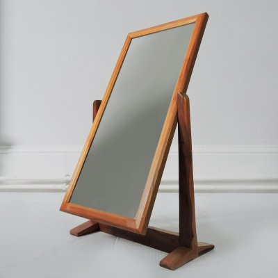 Wooden Desk Mirror, 1950s