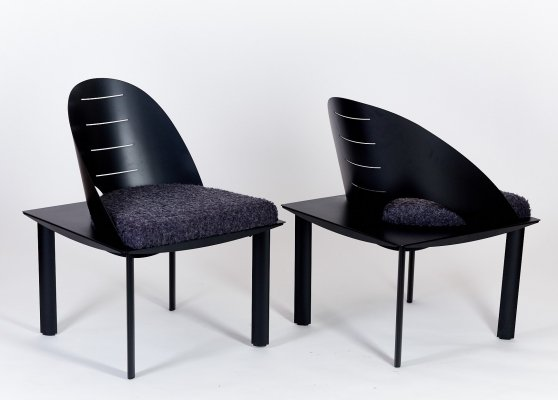 Postmodern chairs by French designer Patrice Bonneau for Genexco