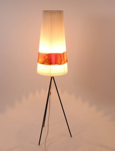 Aro Leuchten floor lamp with original celluloid shade