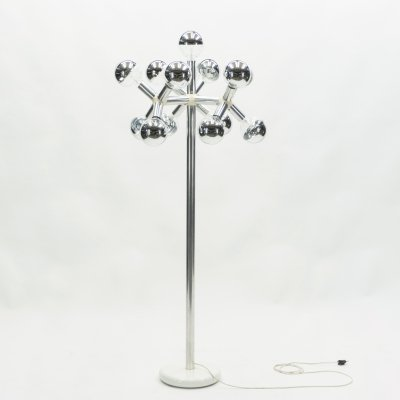 Swiss Mid-century chrome floor lamp by Trix & Robert Haussmann, 1965