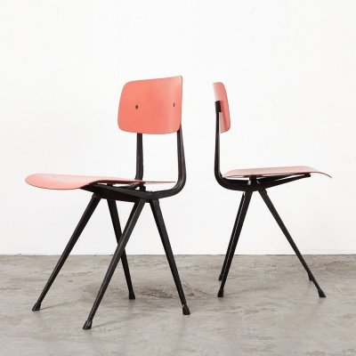 Friso Kramer Pair of Result Chairs for Ahrend de Cirkel, 1958
