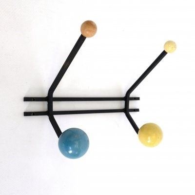 Blue & yellow coat rack, 1960s