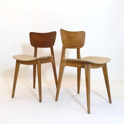 Pair of 6157 chairs by Roger Landault, 1950s