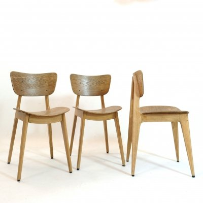 Set of 3 '6157' chairs by Roger Landault,, 1950s