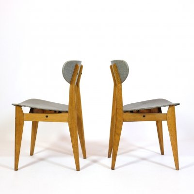 Pair of chairs by Roger Landault for Sentou, France 1950's