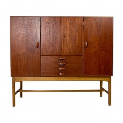 Danish midcentury teak highboard, 1960s