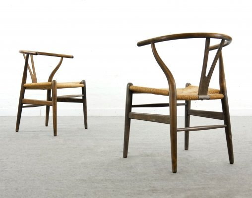 Pair of CH24 Wishbone Dining Chairs by Hans Wegner for Carl Hansen, Denmark