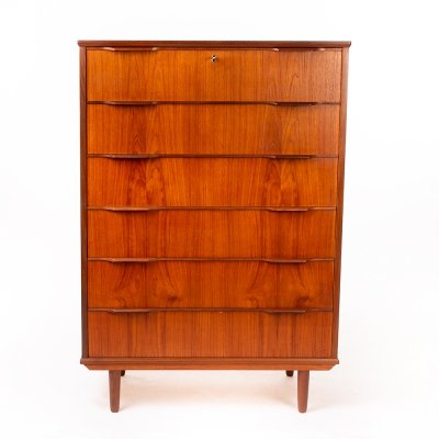 Very large vintage Danish design teak chest of drawers, 1960's
