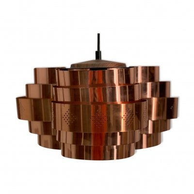 Copper Pendant Lamp by Werner Schou for Coronell, 1967