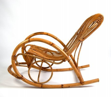Bamboo Rocking Chair by Rohe Noordwolde, 1960s