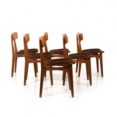 Set of 6 Danish Teak Dining Chairs by Farstrup Møbler