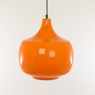 Orange murano glass pendant by Venini, 1950s