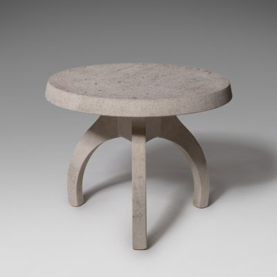 Concrete table with tripod base, Italy 1960's