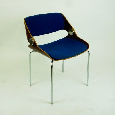 German 60s Office or Dining Chair by Eugen Schmidt for Soloform