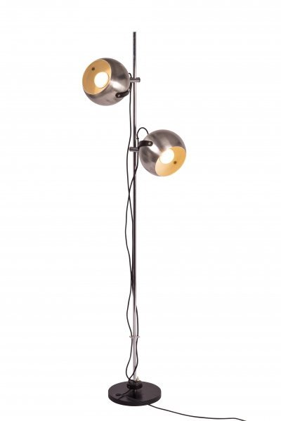 Anvia chromed & brushed aluminum floor lamp, 1960s