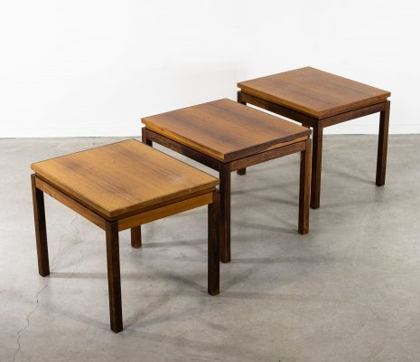 Rosewood Side Tables by Poul Hundevad for Fabian, 1960s