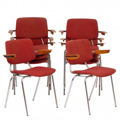 Set of 8 model 305 armchairs by Kho Liang Ie for CAR Katwijk, 1970s