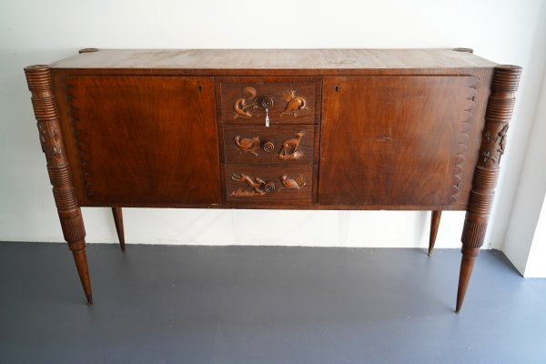 Midcentury Italian wood sideboard by Pier Luigi Colli, 1950
