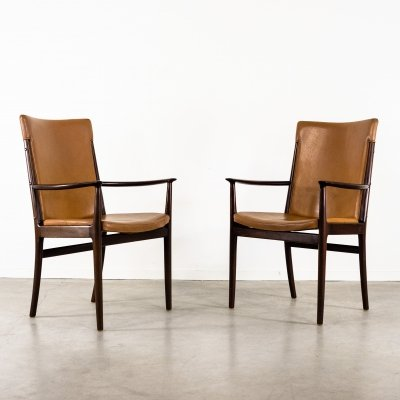 Danish modern armchairs by Kai Lyngfeldt Larsen for Soren Willadsen, 1960's