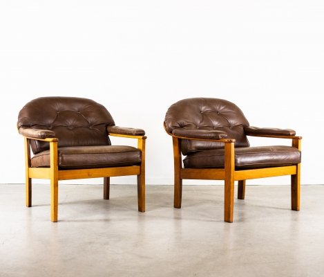 Midcentury armchairs by Ingemar Thillmark for OPE Mobler, 1960s