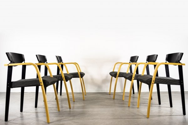 Set of 6 Danish design armchairs from Bent Krogh, 1990s