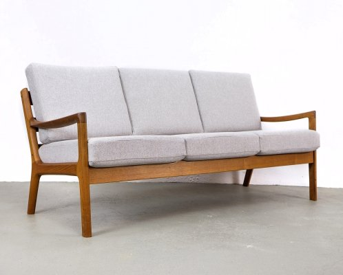 Senator 3-Seater Teak Sofa by Ole Wanscher for Cado