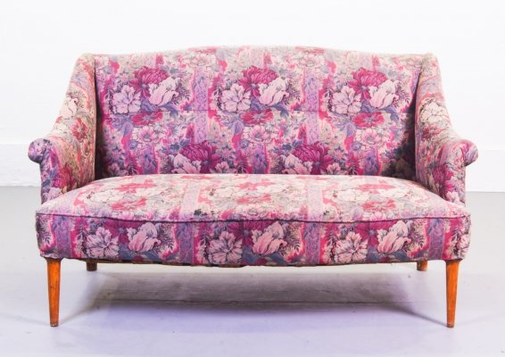 1950's Extraspectral Floral Two-seater Sofa