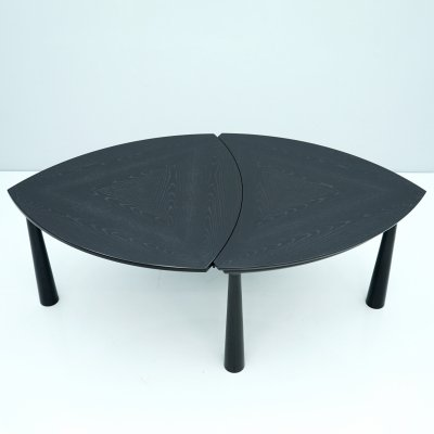 Black Extended Dining Table, 1980s